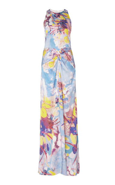 Peter Pilotto Printed Sleeveless Silk-Blend Dress Size: 4 in print