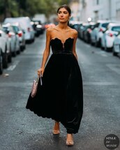 dress,maxi dress,velvet dress,sandal heels,handbag