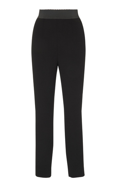 Dolce & Gabbana Cropped Crepe Leggings Size: 38