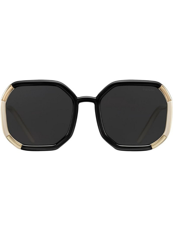 Prada Eyewear octagonal-frame tinted sunglasses in black