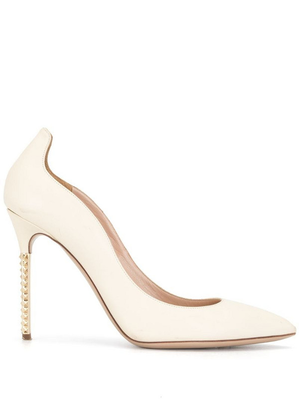 Valentino Pre-Owned studded heel pumps in neutrals