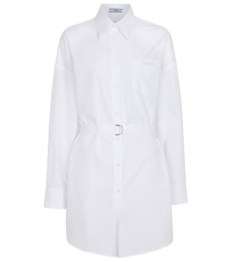 Prada Cotton poplin playsuit in white