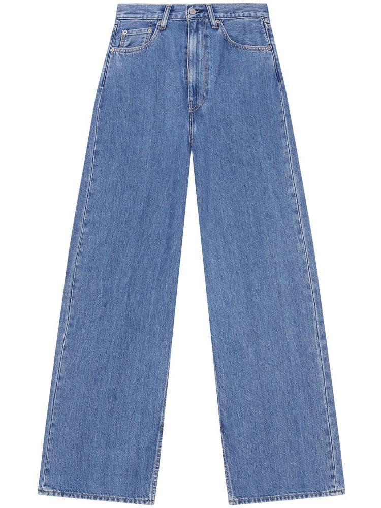 GANNI Levi's Medium Indigo Slit High Jeans in blue