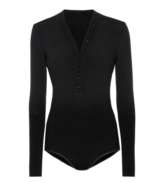 Alaïa Wool-blend bodysuit in black