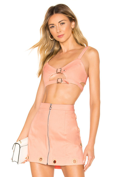 For Love & Lemons Creme Puff Bra Top in pink