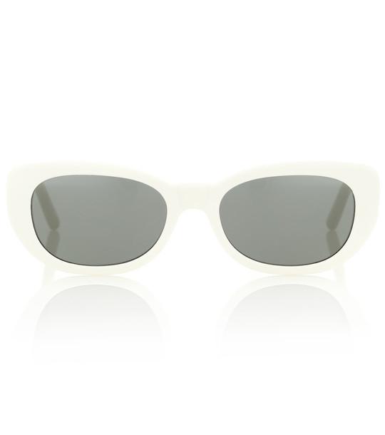 Saint Laurent Betty oval sunglasses in white