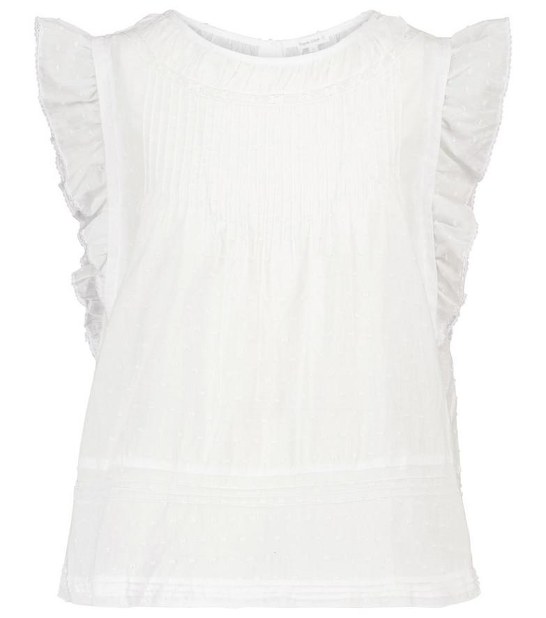 Poupette St Barth Exclusive to Mytheresa – Galia ruffled cotton blouse in white