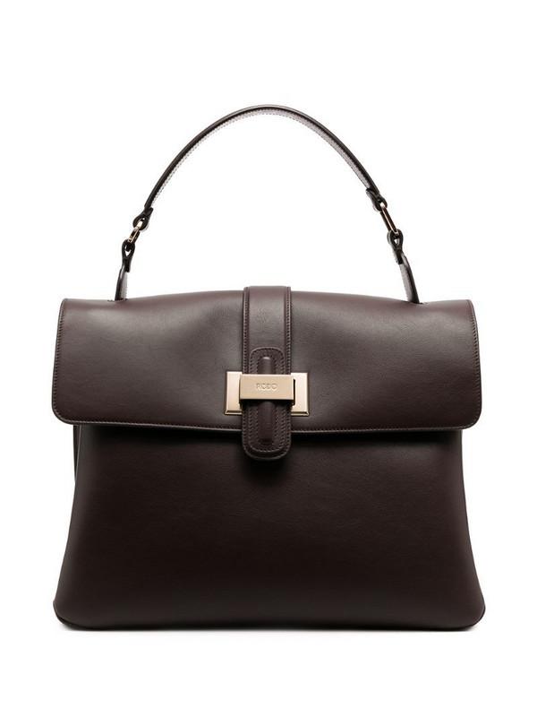 Rodo top fold tote bag in brown