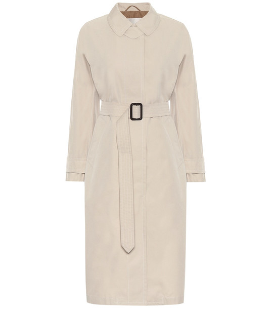 Max Mara Belted cotton trench coat in beige
