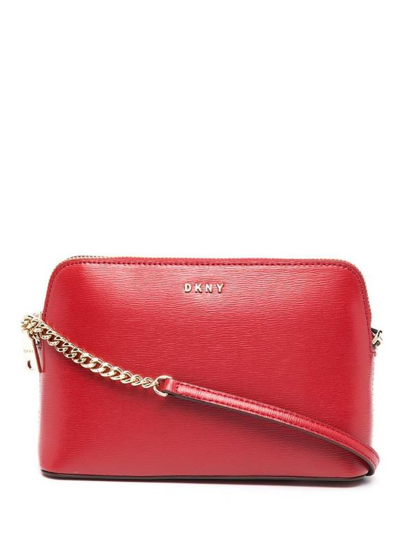 DKNY Bryant leather shoulder bag in red