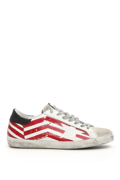 Golden Goose Superstar Flag Sneakers in red / white