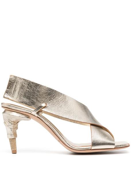 Officine Creative Raimonde metallic sandals in gold