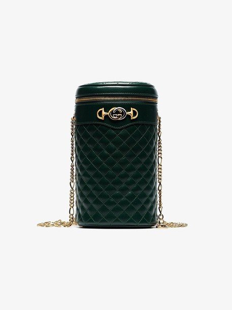 Gucci Green quilted-leather belt bag