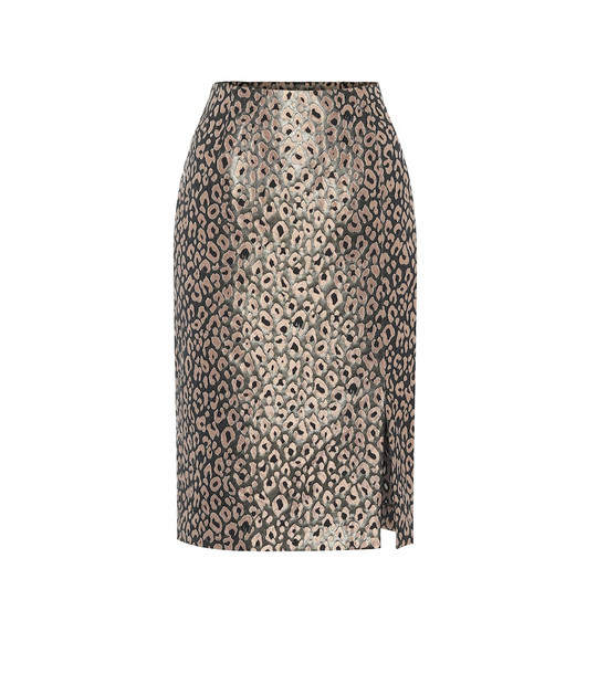 Dorothee Schumacher Wild Shimmer brocade skirt in metallic