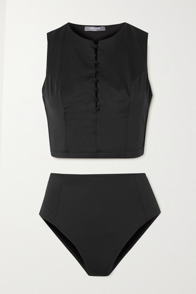 ZEUS + DIONE ZEUS + DIONE - Diros Button-embellished Bikini - Black