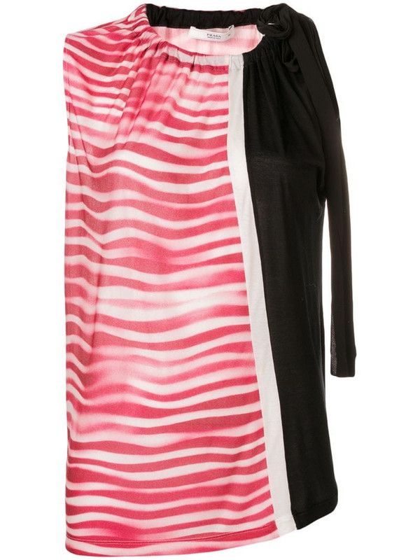 Prada Pre-Owned 2000's striped top in black