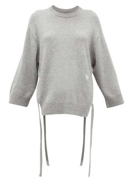Chloé Chloé - Iconic Monogram Tie-strap Cashmere Sweater - Womens - Grey