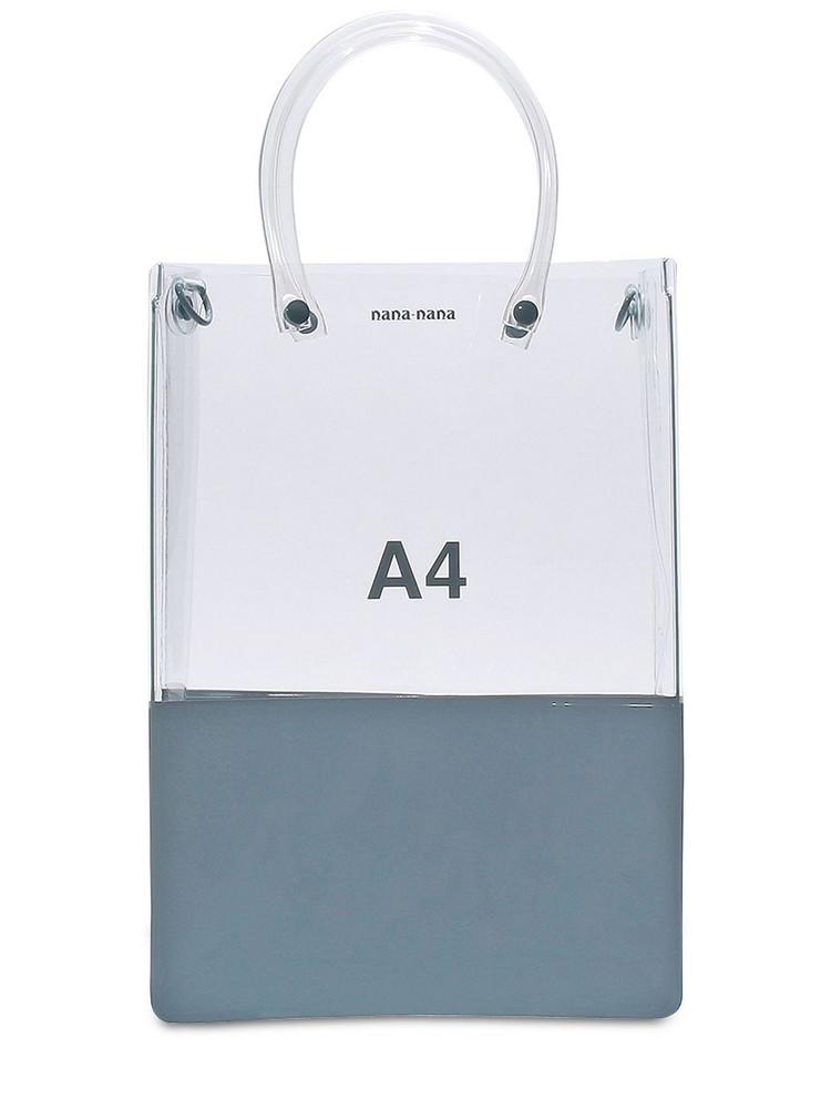 NANA NANA A4 Pvc Shopping Bag in grey / clear