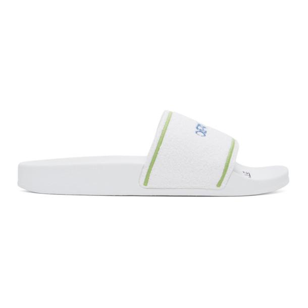 Off-White White Towel Slides