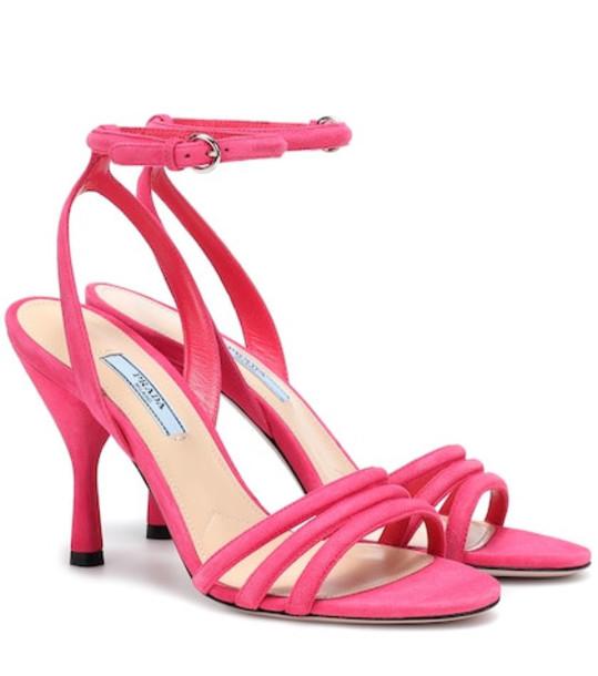Prada Suede sandals in pink