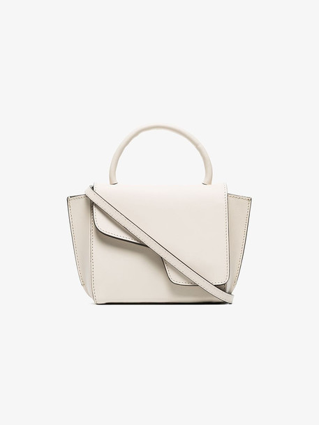 Atp Atelier montalcino leather cross body bag in white
