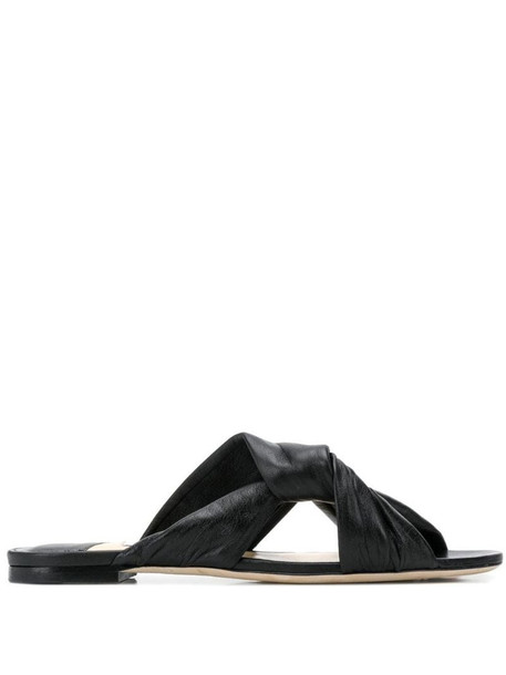 Jimmy Choo Lela flat sandals in black
