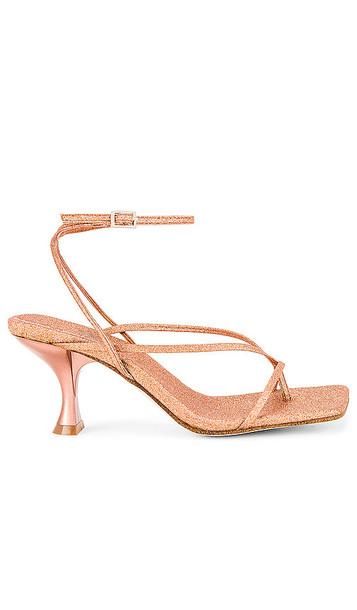 Jeffrey Campbell Fluxx Sandal in Metallic Bronze in gold / rose