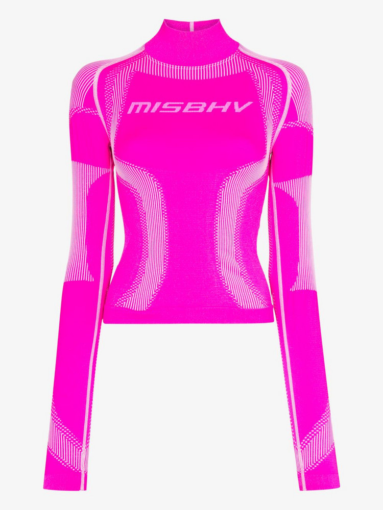 MISBHV MISBHV KNIT TEE HN LS TONAL PANL DTL in pink