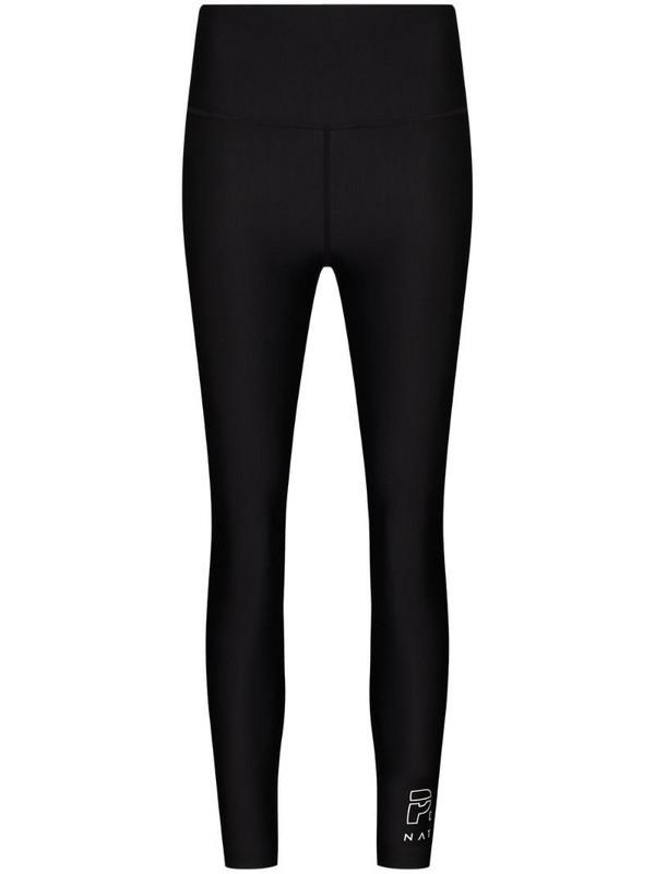 P.E Nation endurance logo print leggings in black