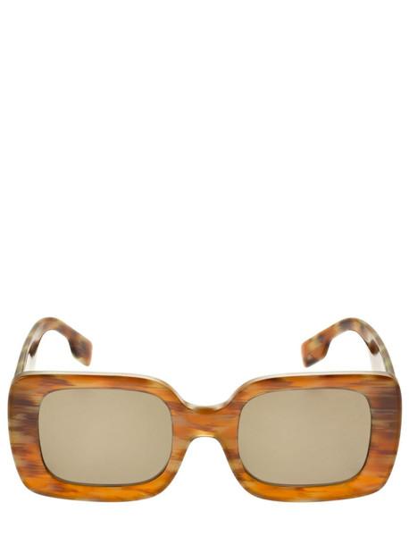 BURBERRY Tb Logo Deer Printed Acetate Sunglasses in brown