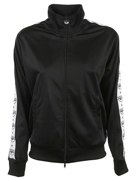 Chiara Ferragni Logomania Track Jacket in black