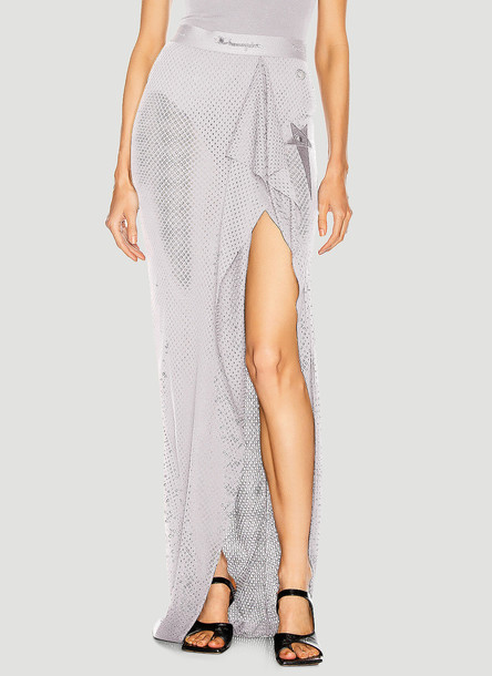 Rick Owens x Champion Mesh Slit Skirt in Grey size XS