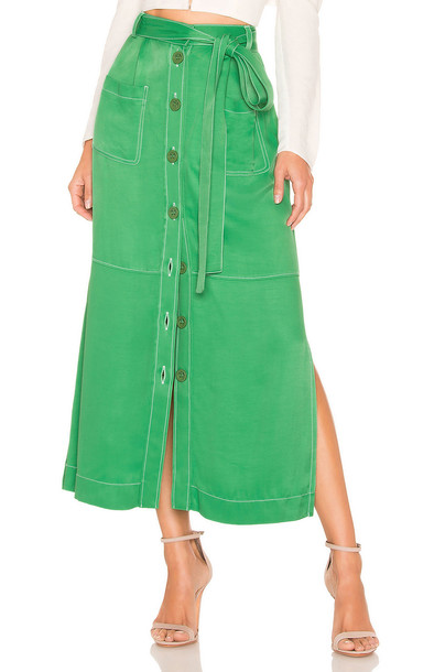 See By Chloe Belted Skirt in green