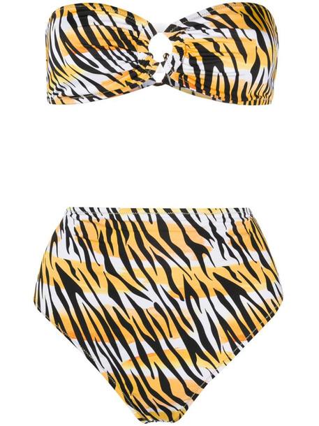 Reina Olga Hutton high-waisted bikini in yellow