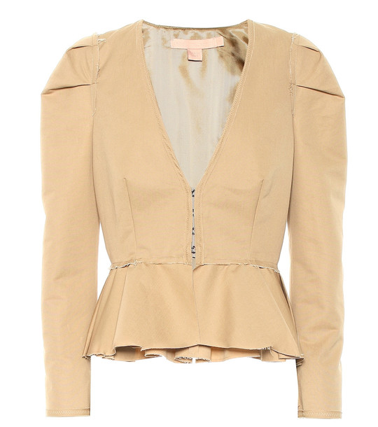 Brock Collection Panariello cotton top in beige