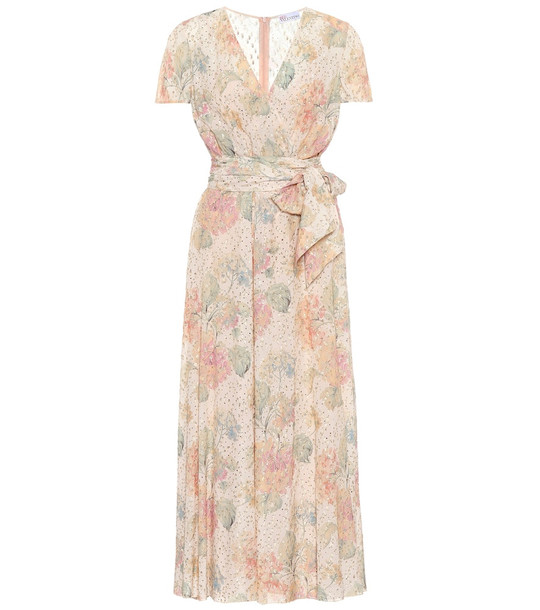 REDValentino Floral fil coupé dress in pink