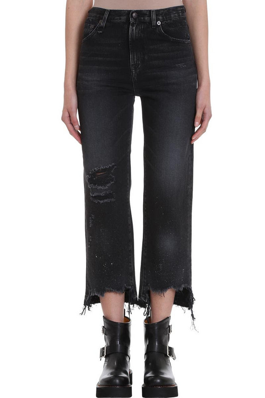 R13 High Rise Jeans in black