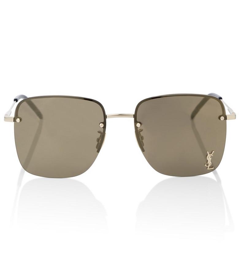 Saint Laurent Aviator sunglasses in brown