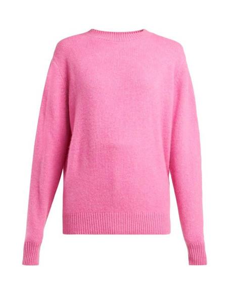 The Elder Statesman - Round Neck Cashmere Sweater - Womens - Pink