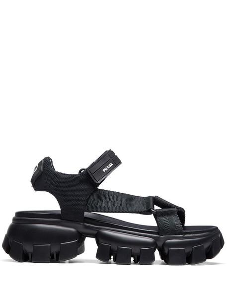 Prada Thunder ridged-sole sandals - Black