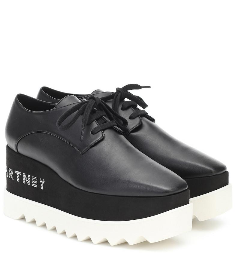 Stella McCartney Elyse faux leather Derby platforms in black