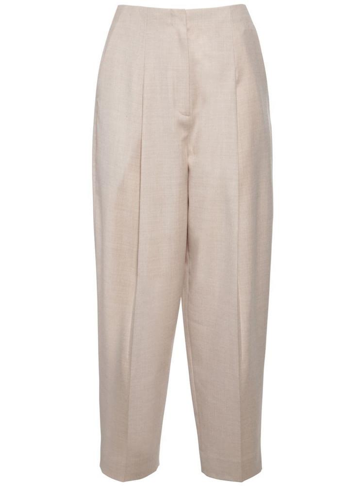 THEORY Pleated Wool Pants in beige