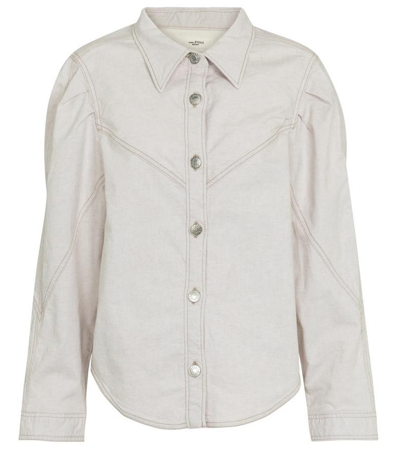 Isabel Marant, Étoile Leona denim jacket in white