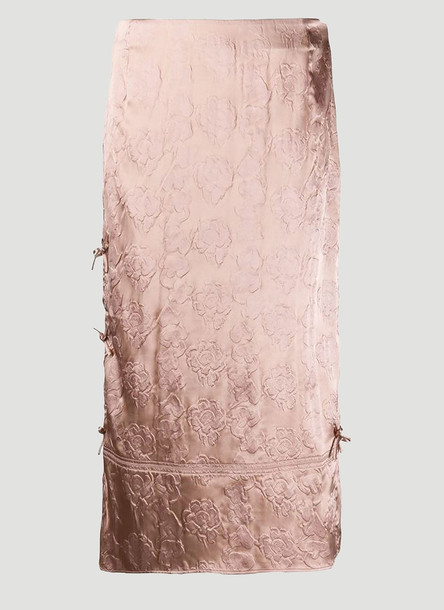 Acne Studios Metallic Jacquard Skirt in Pink size FR - 36