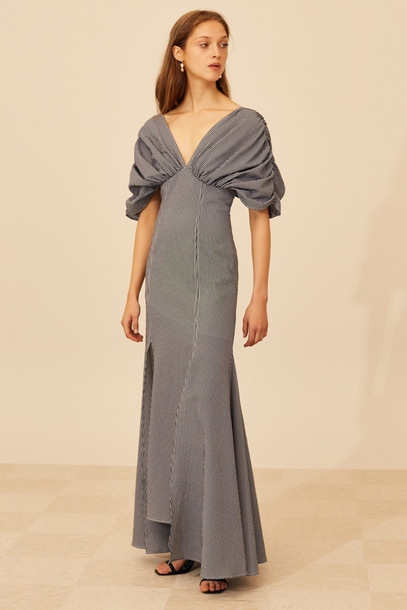 C/MEO COLLECTIVE OVATION GOWN black w ivory check
