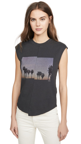 FRAME Palm Muscle Tee in noir