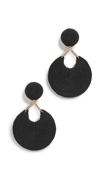 Rebecca De Ravenel La Parisienne Earrings in black