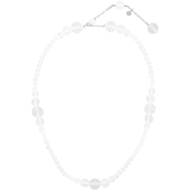 Saskia Diez Transparent Drop Crystal Necklace