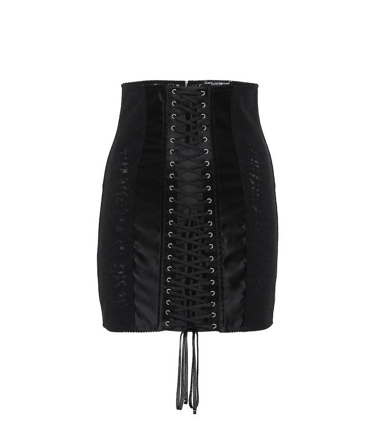 Dolce & Gabbana Satin miniskirt in black