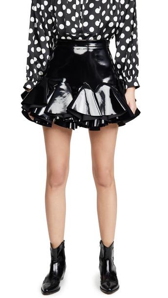 Giuseppe di Morabito Latex Miniskirt in black